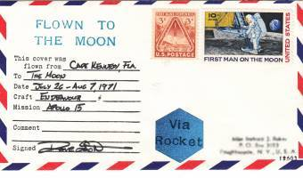 Space flown collectible artifacts - Flown Apollo 15 Sieger